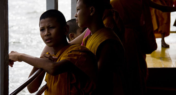 Monks on the Chao Phraya River